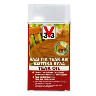 Λάδι Teak Oil για έπιπλα από Εξωτικά Ξύλα και Teak V33 0.5L