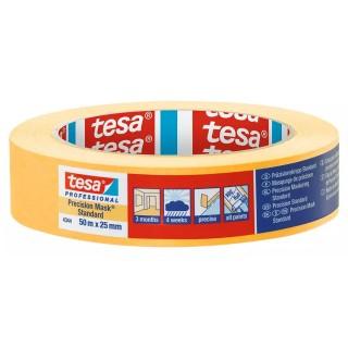 Χαρτοταινία μασκαρίσματος Ακριβείας με εξαιρετικά λεπτό και ανθεκτικό χαρτί πλάτους 25 χιλιοστών 50 μέτρα Professional 4344 Precision Mask® Standard tesa ®