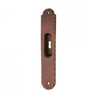 Χούφτα με τρύπα συρόμενης πόρτας ρουστίκ σειρά 135 Αντικέ σκουριά