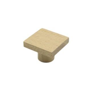 Ξύλινο Πομολάκι επίπλων Άβαφο απο Μασίφ Ξύλο Δρύς Πλατύβενη Βορείου Αμερικής με Πρόσοψη απο Τεχνικό Καπλαμά σε Διάσταση 5x5 σειρά 981