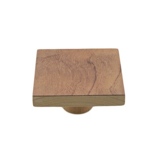 Ξύλινο Πομολάκι επίπλων Άβαφο απο Μασίφ Ξύλο Οξιάς Γερμανίας με Πρόσοψη απο Ρίζα Τριανταφυλλιάς σε Διάσταση 7x7 σειρά 990