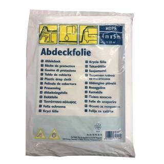 Κάλυμμα Προστασίας Σκόνης – Χρωμάτων Διάφανο 4m x 5m Abdeckfolie 0757