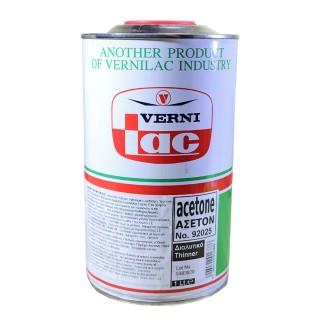 Διαλυτικό Ασετόν  1lt Vernilac No92025