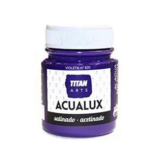 Χρώμα Νερού Σατινέ για Ζωγραφική & Χειροτεχνίες Aqualux Titan Arts Satinado 100ml Violeta No820
