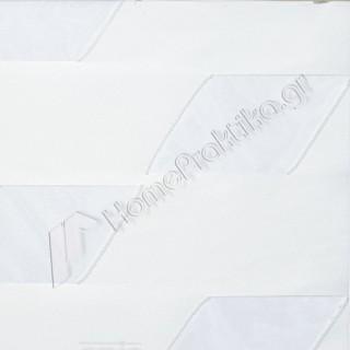 Ρόλερ - Roller 3D Collection cube 01 Λευκό για Χειροκίνητο ή Ηλεκτροκίνητο μηχανισμό