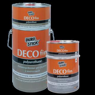 Πολυουρεθανικό ματ βερνίκι 2 συστατικών για πατητή τσιμεντοκονία και φυσικές πέτρες Decofin Polyurethane 750GR Durostick