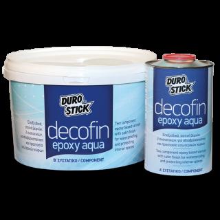 Εποξειδικό, σατινέ βερνίκι 2 συστατικών, για αδιαβροχοποίηση και προστασία εσωτερικών χώρων Decofin Epoxy Aqua 4kg Durostick