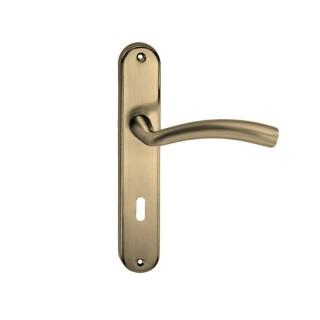 Πόμολο πόρτας χειρολαβή με πλάκα F006-A42 75mm Όρο ματ Maniglia Sk Italy