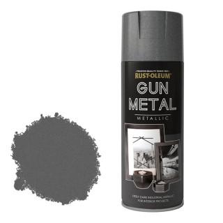 Χρώμα σε Σπρέι για την δημιουργία εφέ Σιδήρου Rust-Oleum Gun Metal 400ml