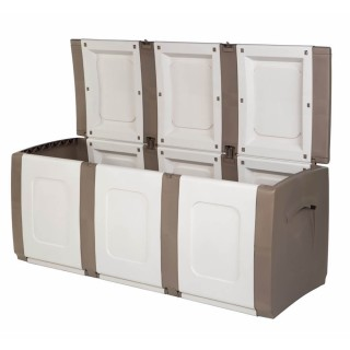 Μπαούλο Πλαστικό BOLD Μπεζ -Λευκό 0,57 Υ x 1,38 Π x 0,54 Β Χωρητικότητας 300L