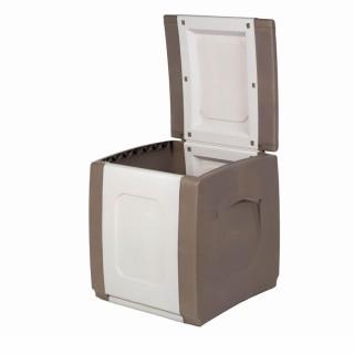 Μπαούλο Πλαστικό COMPACT Μπεζ -Λευκό 0,57 Υ x 0,50 Π x 0,54 Β Χωρητικότητας 100L