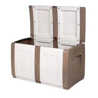 Μπαούλο Πλαστικό REGULAR Μπεζ -Λευκό 0,57 Υ x 0,94 Π x 0,54 Β Χωρητικότητας 200L