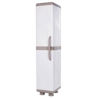 Ντουλάπα πλαστική ΙΡΙΔΑ - Μονόφυλλη Μπεζ -Λευκό 1,79 Υ x 0,36 Π x 0,44 Β για βάρος εως 25Kg