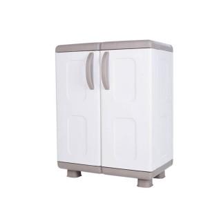 Ντουλάπα πλαστική ΗΒΗ - 2φυλλη Μπεζ -Λευκό 0,96 Υ x 0,73 Π x 0,44 Β για βάρος εως 25Kg