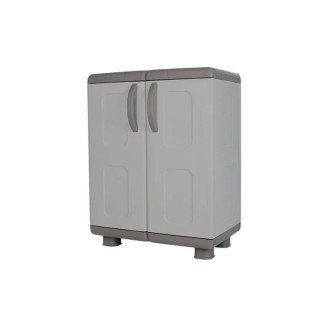 Ντουλάπα πλαστική ΗΒΗ - 2φυλλη Γκρί-Ανθρακί 0,96 Υ x 0,73 Π x 0,44 Β για βάρος εως 25Kg