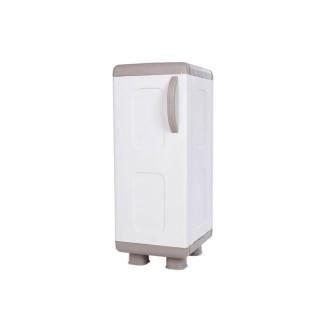 Ντουλάπα πλαστική ΡΕΑ - Μονόφυλλη Μπεζ -Λευκό 0,96 Υ x 0,36 Π x 0,44 Β για βάρος εως 25Kg