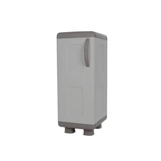 Ντουλάπα πλαστική ΡΕΑ - Μονόφυλλη Γκρί-Ανθρακί 0,96 Υ x 0,36 Π x 0,44 Β για βάρος εως 25Kg