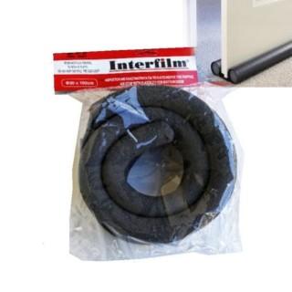 Αεροστόπ / Αεροφράκτης πόρτας Περαστός Διπλός Μαύρος Φ30 x 100cm Interfilm 157-02