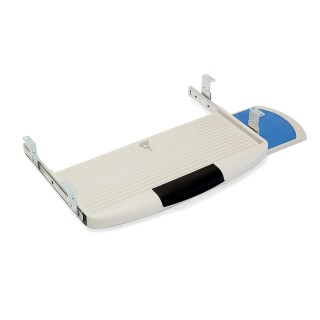 Βάση Πληκτρολογίου Πλαστική Emuca σε Γκρι Χρώμα με βοηθητικό δίσκο για το ποντίκι 4193121