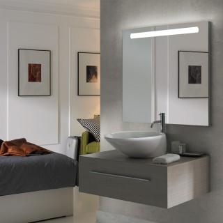 Καθρέφτης Τετράγωνος μπάνιου Pegasus Emuca με μπροστινό φωτισμό LED - διακοσμητικό οπίσθιο φωτισμό και αντιδιαβρωτική επεξεργασία 60x70cm 5148120