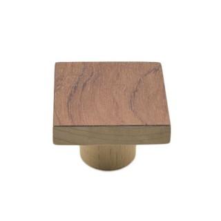 Ξύλινο Πομολάκι επίπλων Άβαφο απο Μασίφ Ξύλο Οξιάς Γερμανίας με Πρόσοψη απο Ρίζα Τριανταφυλλιάς σε Διάσταση 5x5 σειρά 991