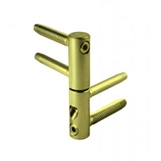 Μεντεσές πόρτας βιδωτός AGB 3D Φ14 1 Τεμ. Ιριδίου