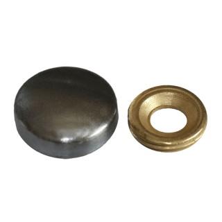 Τάπα βίδας αλουμινίου μαύρο 901-x004