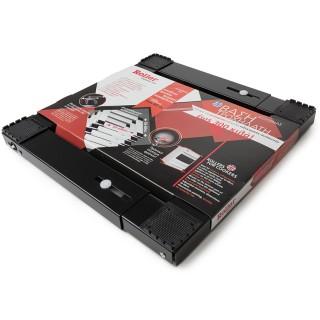 Βάση Ηλεκτρικών Συσκευών τετράγωνη Μεταλλική Μαύρη 42 – 62 cm Τροχήλατη 00684