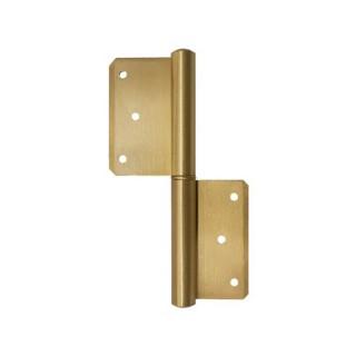 Πορταδέλα ορειχάλκινη σε ματ χρυσό 80mm 200-x008 Metalor