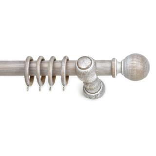 Ξύλινο κουρτινόξυλο Ανάρτηση Clasico Φ35 Sbianco