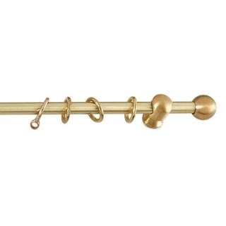 Κουρτινόξυλα Ανάρτηση Φ10 Ball Χρυσό Σατινέ