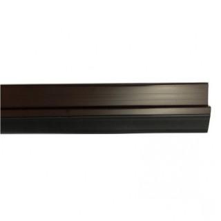 Αεροστόπ / Αεροφράκτης πόρτας αυτοκόλλητος με λάστιχο PVC για ανοιγόμενες πόρτες 1m καφέ χρώμα