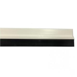 Αεροστόπ / Αεροφράκτης πόρτας αυτοκόλλητος με λάστιχο PVC για ανοιγόμενες πόρτες 1m λευκό χρώμα