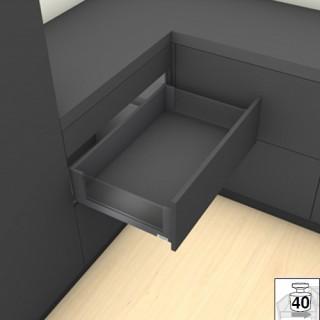 Μεταλλικό καλάθι με υποδοχές για γυαλί -C BLUM 17.7cm LEGRABOX No50 Γκρι