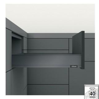 Μεταλλικό συρτάρι BLUM LEGRABOX -K- 14.4cm Βάθος 50cm σε χρώμα Ανθρακί
