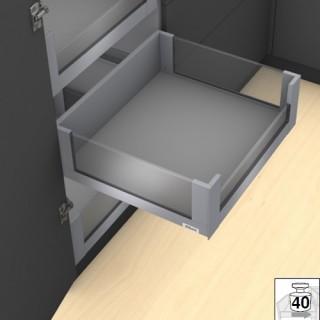 Εσωτερικό Μεταλλικό καλάθι -C BLUM 17.7cm LEGRABOX No50 Γκρι με υποδοχές για γυαλί