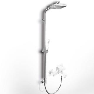Κολώνα ρυθμιζόμενου ύψους με εκτροπέα, για σύνδεση με μπαταρία μπάνιου ή ντούζ Eurorama 51400S