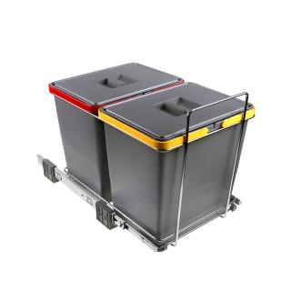 Συρόμενος πλαστικός κάδος Elletipi PF01-34B2 36L  (2Χ18L)