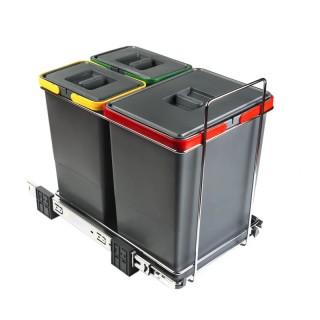Συρόμενος πλαστικός κάδος Elletipi PF01-34B1 34L  (2Χ8L , 1X18L)