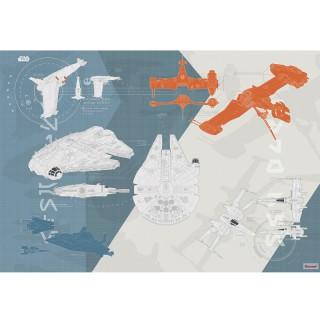 Φωτοταπετσαρία τοίχου Komar 8-4001 Star Wars Technical Plan 3.68 cm x 2.54 cm
