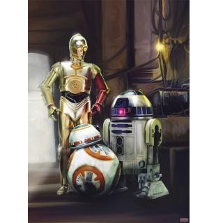 Φωτοταπετσαρία τοίχου Komar 4-447 Star Wars Three Droids 1.84 cm x 2.54 cm