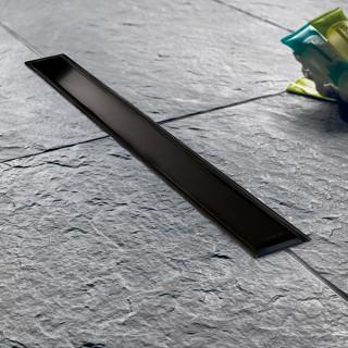 Κανάλι ντουζ σε μαύρο ματ χρώμα Venisio slim VS500-401