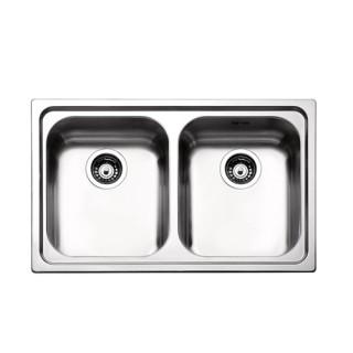 Ανοξείδωτος νεροχύτης Apell Venezia 8380 (79x50) Λείος