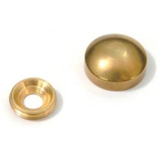 Τάπα Βίδας Στρογγυλή ∅15 Ορειχάλκινη Χρυσή 901-0002