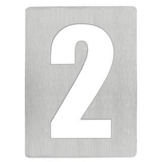 Αριθμός 2 8cm Ανοξείδωτος