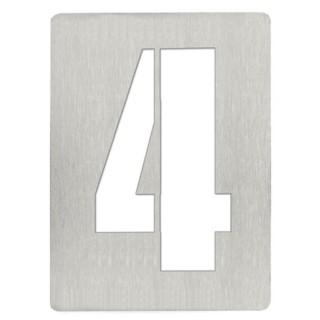 Αριθμός 4 8cm Ανοξείδωτος