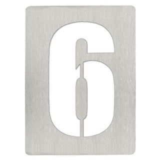 Αριθμός 6 8cm Ανοξείδωτος