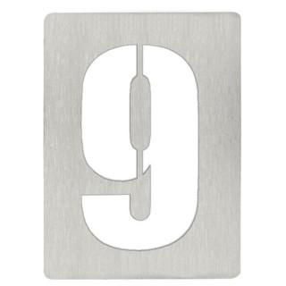 Αριθμός 9 8cm Ανοξείδωτος