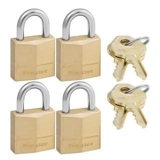 Σετ 4 Λουκέτα Standard Μπρούτζινα 20mm Master Lock 120EURQNOP