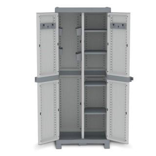 Ντουλάπα πλαστική WaveBase 3700U - 2φυλλη Με Διαχωριστικό 70cm x43,8cm x181,8cm Italy